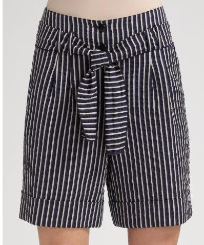 Armani Collezioni Striped Walking Shorts