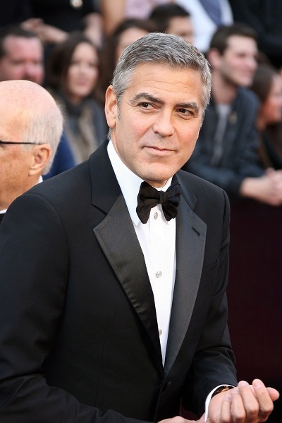 George Clooney shows off at the Oscars