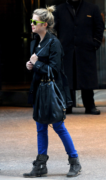 Ashley Benson leaves her Manhattan hotel