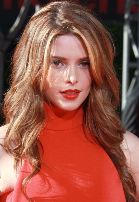 Ashley Greene's long, wavy hairstyle