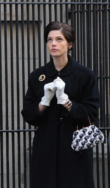 "Ashley Greene filming a scene for ""Pan Am"""