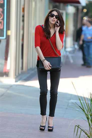 Ashley Greene heads to a waxing salon in North Hollywood