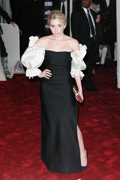 "Ashley Olsen attends the Alexander McQueen: ""Savage Beauty"" costume institute gala"