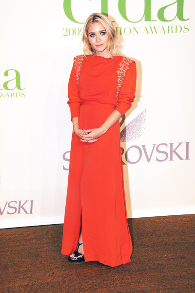 Ashley Olsen looks bold in red