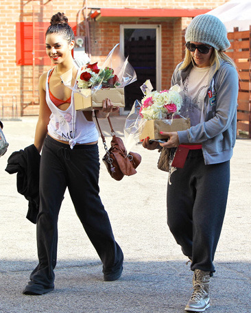 Vanessa Hudgens and Ashley Tisdale leave a dance class