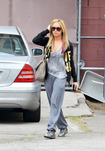 Ashley Tisdale goes out and about in Hollywood