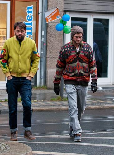 Ashton Kutcher on his way to breakfast in Berlin