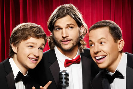 Ashton Kutcher and Two and a Half Men co-stars