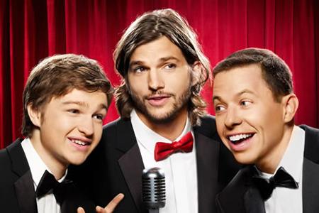 Ashton Kutcher and Two and a Half Men co-stars