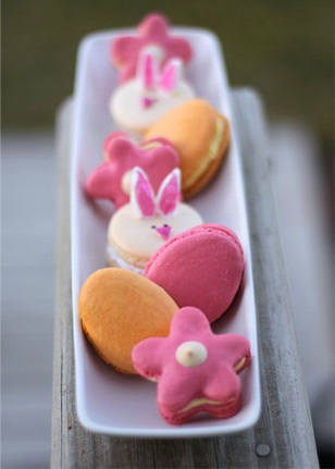 Assorted Easter macarons