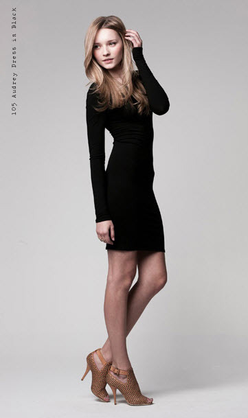 Paper Crown Audrey Dress in black