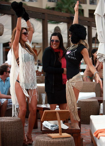 Audrina Patridge parties in Cabo San Lucas