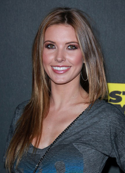 Audrina Partridge's long, straight hairstyle