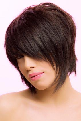 Short hairstyles: Chin Length Shaggy Bob