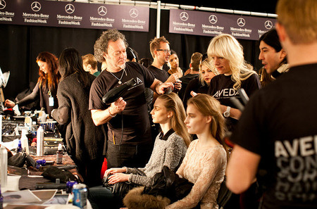 Models backstage at Richard Chai