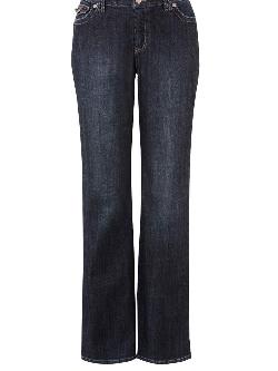 Avenue Petite Stitched Flap Pocket Bootcut Jeans