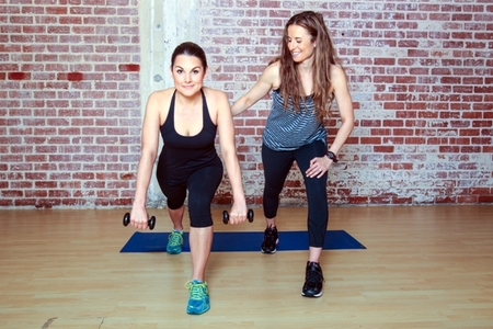 Wide Row in Runners Lunge: Step 1