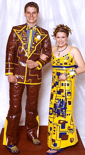Duct tape prom outfit