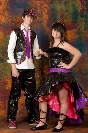 Punk rock prom couple