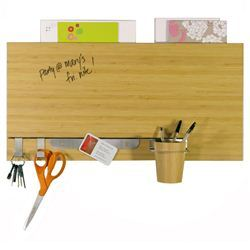 Bamboo dry-erase accented wall panel
