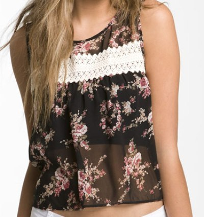 Band of Gypsies Floral Top