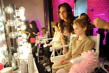 Brooke Shields and her daughter