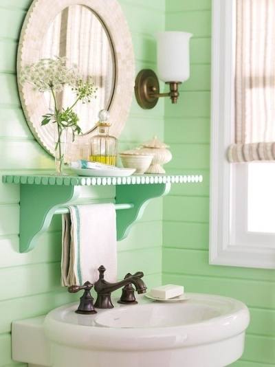 Sea green bathroom decor - Bathroom accents in the hottest summer hues