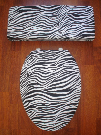 Zebra toilet seat cover - Bathroom decorating ideas