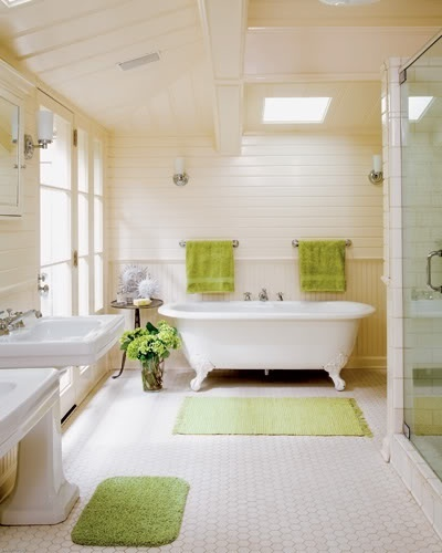 Bathroom Accents In The Hottest Summer Hues Light Green Bathroom Decor