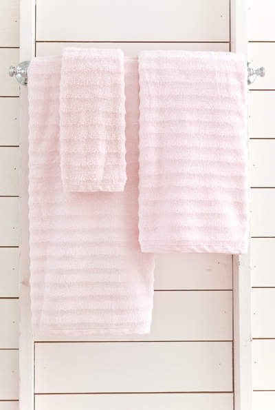 Pale rose bath towel