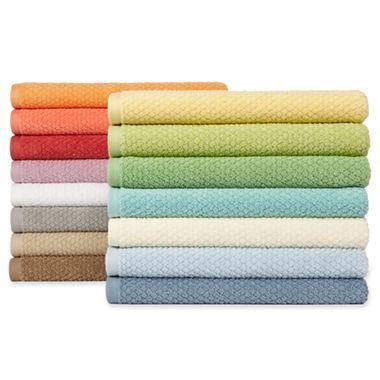 Quick dry ripple bath towels