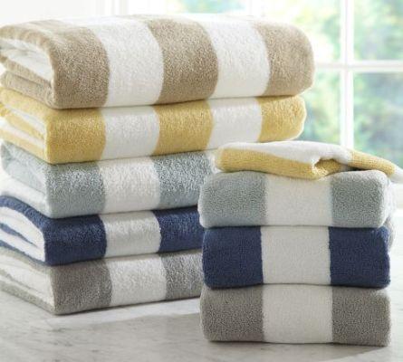 Classic stripe bath towels