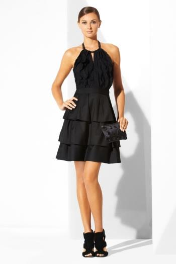 BCBG Max Azria Black Halter Cocktail Dress