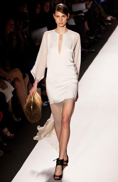 Silk, white dress