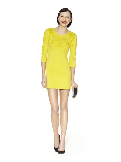 Yellow beaded dress