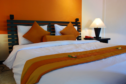 bedroom design orange home decoration live