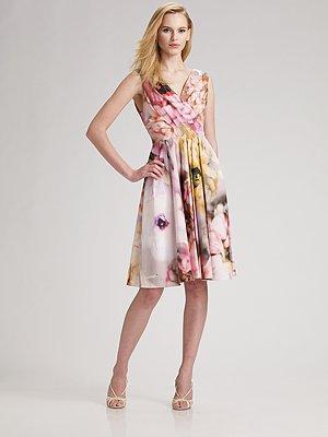 Behnaz Sarafpour Garden Print Dress
