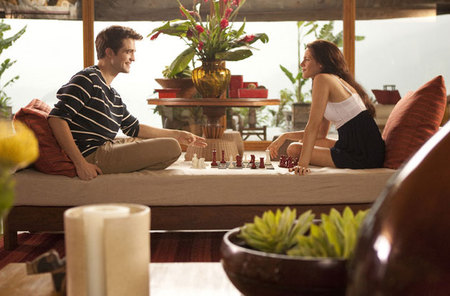 Breaking Dawn: Bella and Edward on their honeymoon