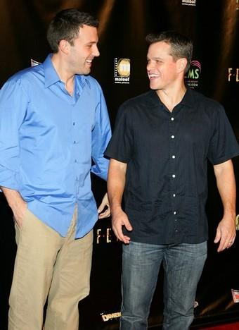 Ben Affleck and Matt Damon hanging out in Vegas