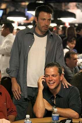 Ben Affleck and Matt Damon in a scene