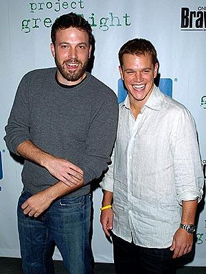 Ben Affleck and Matt Damon at a Project Greenlight event