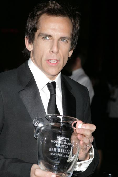Ben Stiller  holding a glass award
