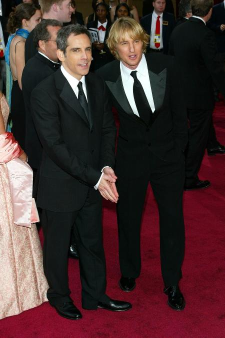 Owen Wilson and Ben Stiller on the red carpet at the Academy Awards