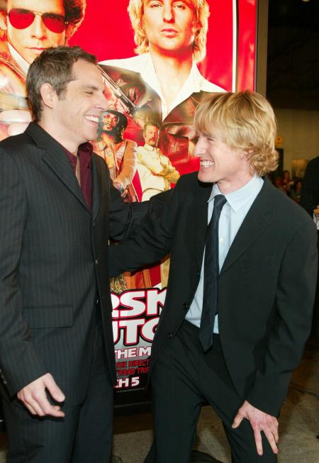 Ben Stiller and Owen Wilson at Starsky and Hutch premiere