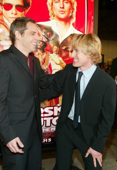 Ben Stiller and Owen Wilson at Starsky and Hutch premiere