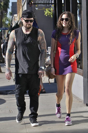 Benji Madden and his girlfriend head to lunch in Venice