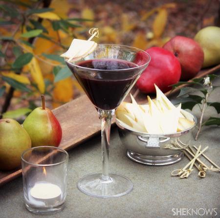 Berry & pear tree martini
