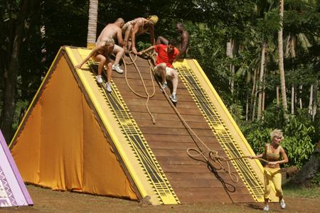 Best Survivor: Samoa (19) Moments Contestants Scaling Wall