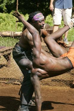 Best Survivor: Samoa (19) Moments Russell S. and Jaison During Mud Wrestling Challenge