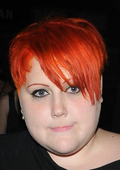 Beth Ditto's orange choppy cut